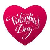 Glückliche Valentinsgrußtageskarte Auch im corel abgehobenen Betrag Stockbild