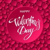 Glückliche Valentinsgrußtageskarte Auch im corel abgehobenen Betrag Stockfotos