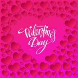 Glückliche Valentinsgrußtageskarte Auch im corel abgehobenen Betrag Lizenzfreies Stockbild
