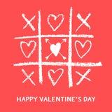 Glückliche Valentinsgrußtageskarte, Liebesspiel stock abbildung