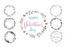 Glückliche Valentinsgrußtageskarte Zusammensetzung von verschiedenen Maschinen herein Vervollkommnen Sie für Feiertag Flaches sti lizenzfreies stockfoto