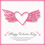 Glückliche Valentinsgrußtageskarten mit Herzen an Stockbilder