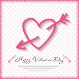 Glückliche Valentinsgrußtageskarten mit Herzen an Lizenzfreie Stockbilder