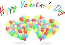Glückliche Valentinstag-Ballone Stockbilder