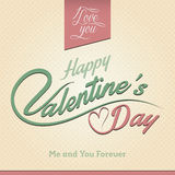 Glückliche Valentinstag-Gruß-Karte Stockfoto