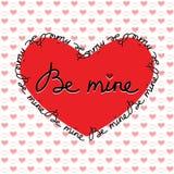 Glückliche Valentinstag-Gruß-Karte Stockbilder