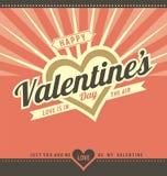 Glückliche Valentinstag-Gruß-Karten-Schablone Stockbild