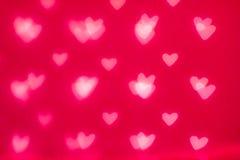 Glückliche Valentinstag-Zusammenfassung Defocused funkelnde Lichter Bokeh Stockfotos
