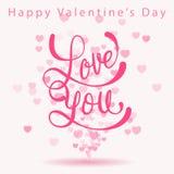 Glückliche Valentinstaggrußkarte Lizenzfreie Stockbilder