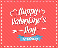 Glückliche Valentinstagkarte stockbild