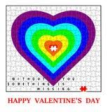 Glückliche Valentinstagkarte Stockfotos
