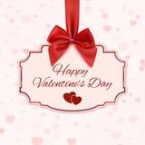 Glückliche Valentinstagklassikerfahne Stockfotos