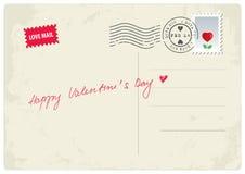 Glückliche Valentinstagpostkarte Lizenzfreies Stockbild
