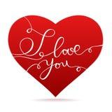 Glückliche Valentinstagvektorkarte Stockbild