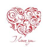 Glückliche Valentinstagvektorkarte Lizenzfreies Stockfoto