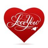 Glückliche Valentinstagvektorkarte Lizenzfreies Stockbild