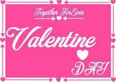 Glückliche Valetine-Tagesgrußkarte Stockfotografie