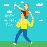 Glückliche Vater ` s Tagesillustration Lizenzfreie Stockfotos