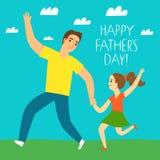 Glückliche Vater ` s Tagesillustration Stockfoto
