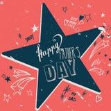 Glückliche Vater ` s Tageskarte