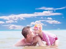 Glückliche Vaterschaft Stockfotografie