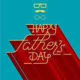Glückliche Vatertags-Grußkarte Lizenzfreie Stockfotografie