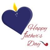 Glückliche Vatertagskarte Lizenzfreie Stockbilder
