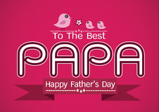 Glückliche Vatertagskarte, Liebe PAPA oder VATI Lizenzfreies Stockbild