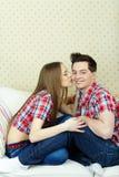 Glückliche verliebte Paare Stockfotos