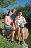Glückliche verschiedene Familie Stockfotos