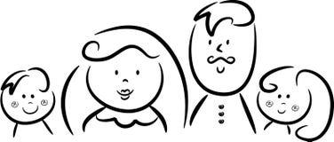 Glückliche vierköpfige Familie Lizenzfreies Stockfoto