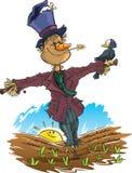 Glückliche Vogelscheuche Lizenzfreies Stockfoto