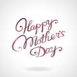 Glückliche von Hand gezeichnete Beschriftung der Mutter Tages Lizenzfreie Stockbilder