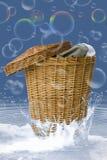 Glückliche Wäscherei kreativ Stockfoto