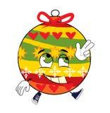 Glückliche Weihnachtsbaum-Spielzeugkarikatur Stockfotos
