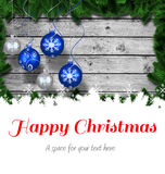 Glückliche Weihnachtsbotschaft Lizenzfreie Stockfotos