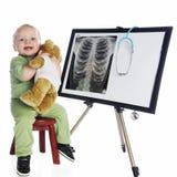 Glückliche wenig MED-Technologie stockfotografie