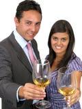 Glückliche Wirtschaftler mit Champagne Lizenzfreie Stockfotografie