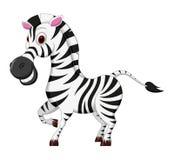 Glückliche Zebrakarikatur Stockfotos