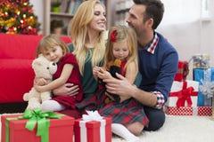 Glückliche Zeiten mit Familie Stockbilder