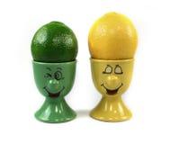 Glückliche Zitronen Stockfoto