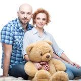 Glückliche zufällige Familie Lizenzfreie Stockfotos