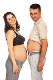 Glückliche zukünftige Muttergesellschaft Stockfotos