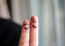 Glückliche zwei Finger Lizenzfreie Stockfotografie