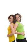 Glückliche zwei Schwestern Stockbilder