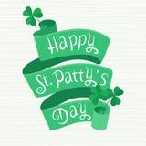 Glücklichen Beschriftung St. Pattys Tagesauf einem Band Stockfotografie