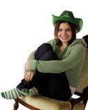 Glücklichen feiernden Tag Str.-Patricks Stockbild
