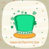 Glücklichen St Patrick Tagesfeier-Koboldhut Stockfoto