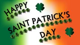 Glücklichen St Patrick Tagesklee-Zeichen stockbilder