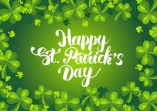 Glücklichen St Patrick Tagespostkarte Stockfotos